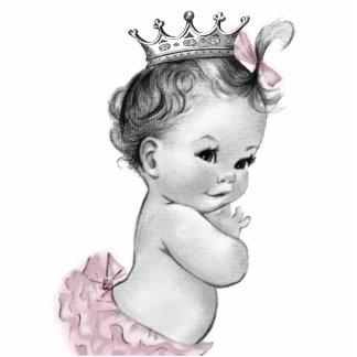 Chá cor-de-rosa da princesa bebé do vintage fotoescultura