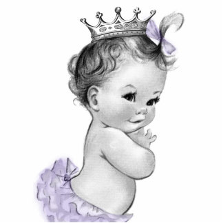 Chá da princesa bebé da lavanda do vintage escultura fotos