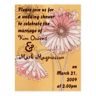 chá de casamento da margarida cartão postal