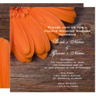 Chá de casamento dos casais da margarida convite quadrado 13.35 x 13.35cm