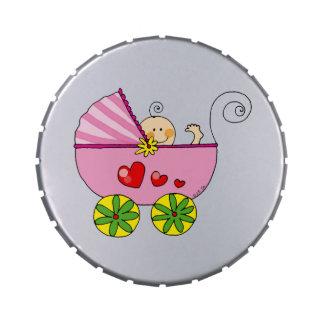 Chá de fraldas bonito (bebé) latinhas para personalizar