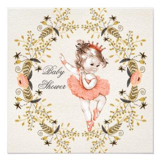 Chá de fraldas floral da bailarina da grinalda da