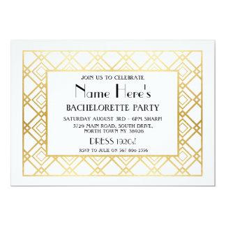 chá de panela da festa de solteira do art deco dos convite 12.7 x 17.78cm