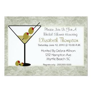Chá de panela de Martini Convite Personalizados