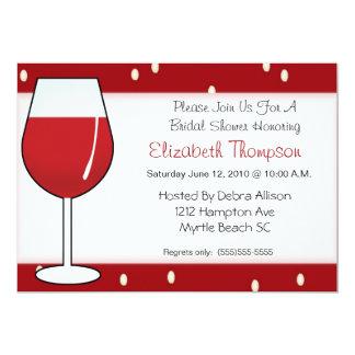 Chá de panela do vinho tinto convite personalizado