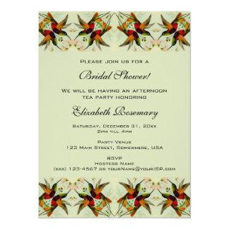 Chá de panela do vintage, flores florais dos convite