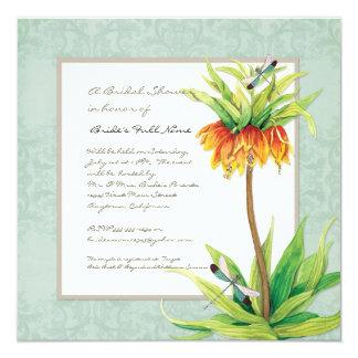 Chá de panela elegante da libélula do Fritillaria Convite