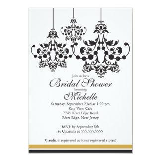 Chá de panela elegante do candelabro convite 12.7 x 17.78cm