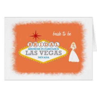 Chá de panela em Las Vegas fabuloso com a noiva a Cartão Comemorativo