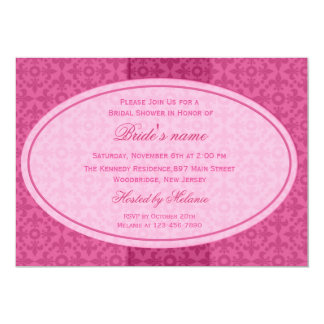 Chá de panela retro cor-de-rosa convite personalizados