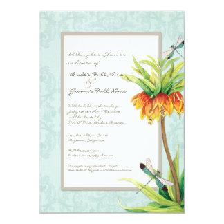 Chá elegante dos casais da libélula do Fritillaria Convite