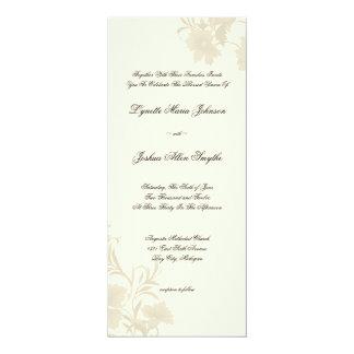 Chá floral dos convites do casamento do creme de
