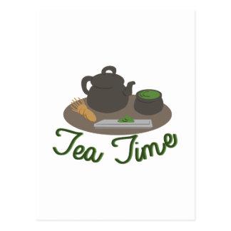 Chá japonês da cerimónia de chá cartão postal