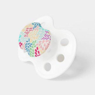 Chá pintado mão da flor chupeta