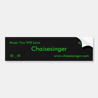 Chaisesinger, www.chaisesinger.com, música você W… Adesivo Para Carro