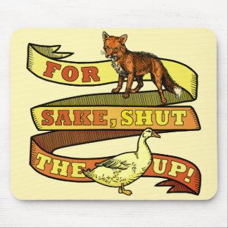 Chalaça engraçada do animal do pato do Fox Mouse Pad
