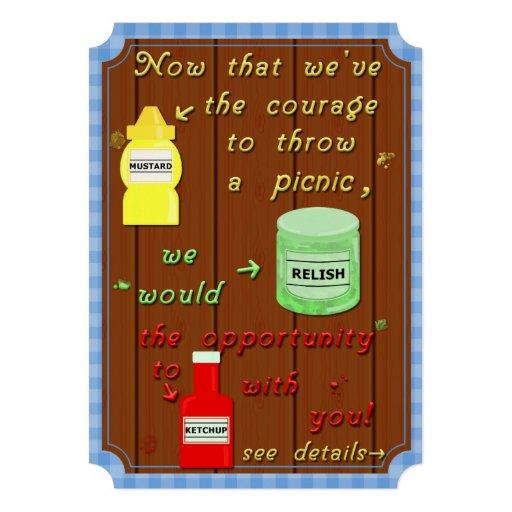 Chalaça engraçada do partido do Cookout do piqueni Convites Personalizados