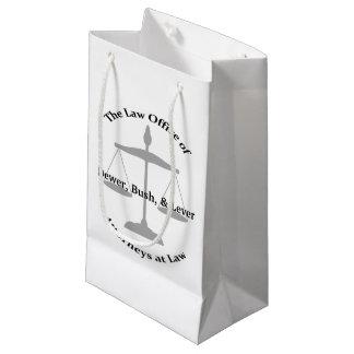 Chalaças da empresa de advocacia sacola para presentes pequena