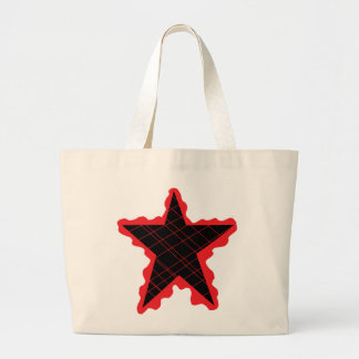 Chama vermelha da estrela bolsa para compras