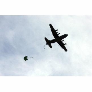 Chamada do compasso da gota de pára-quedas EC-130H Esculturafoto