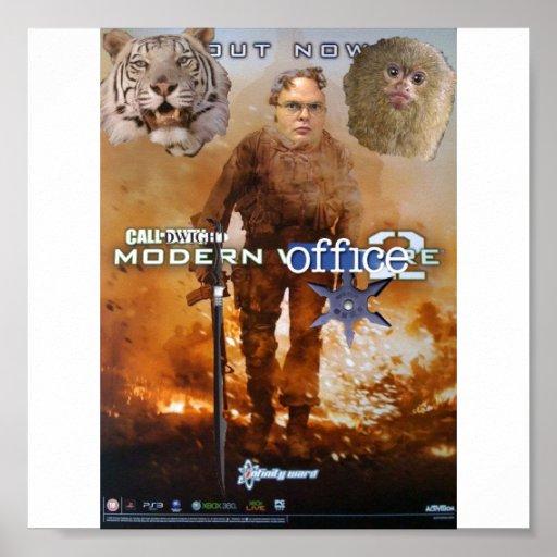 chamada do escritório moderno 2 de dwight posteres