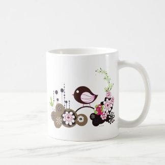Chamada do pássaro caneca de café