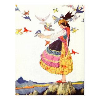 Chamando os pássaros cartão postal