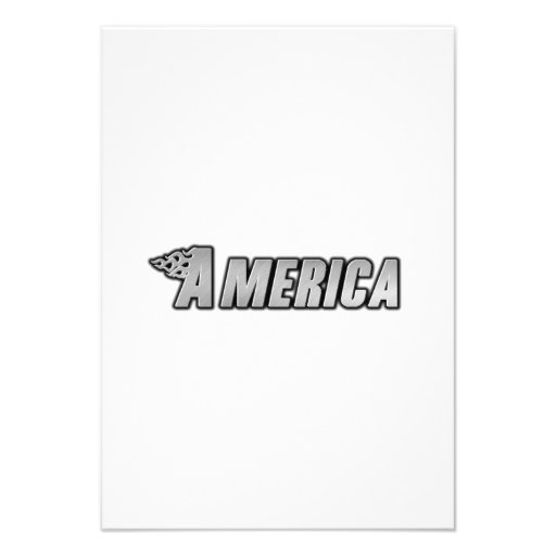 Chamas da motocicleta - América Convite Personalizado