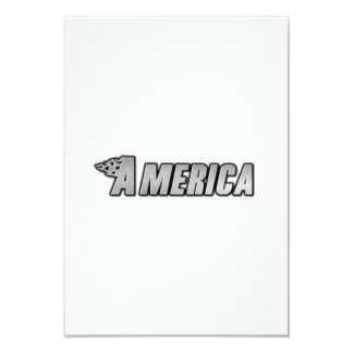 Chamas da motocicleta - América Convite 8.89 X 12.7cm