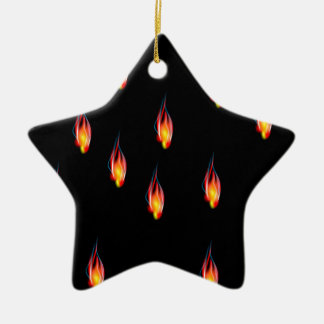Chamas do fogo ornamento de cerâmica estrela
