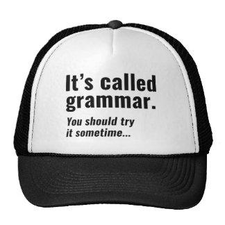 Chamou Gramática Boné