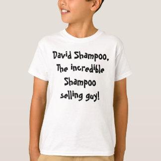 Champô de David, o champô incrível que vende a Camiseta