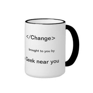 </Change> trazido perto a um geek perto de você Caneca Com Contorno