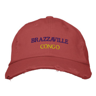 Chapéu afligido Congo de Brazzaville Boné Bordado