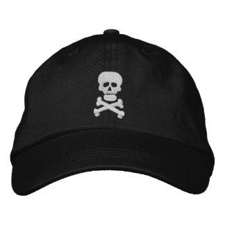 Chapéu ajustável do crânio da rocha boné bordado