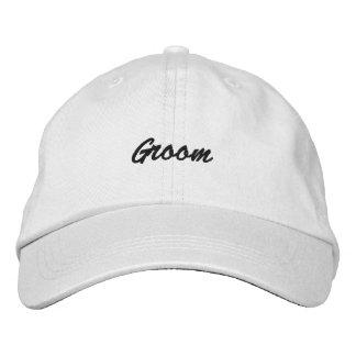 Chapéu ajustável personalizado do noivo boné bordado