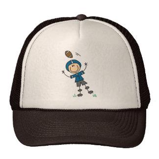 Chapéu azul do jogador de futebol boné