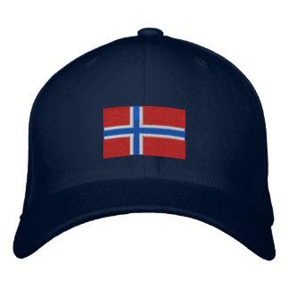 Chapéu bordado bandeira de lãs do flexfit de Norue Boné Bordado