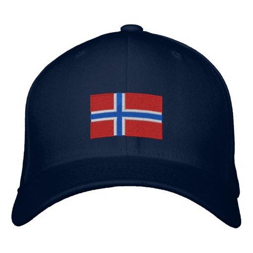 Chapéu bordado bandeira de lãs do flexfit de Norue Boné