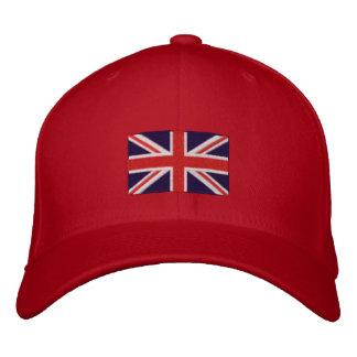 Chapéu bordado bandeira de lãs do flexfit de Reino Boné