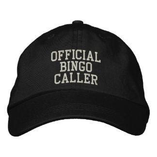 Chapéu bordado do BINGO chamador oficial Boné Bordado