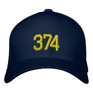 Chapéu bordado do bloco 374 boné bordado