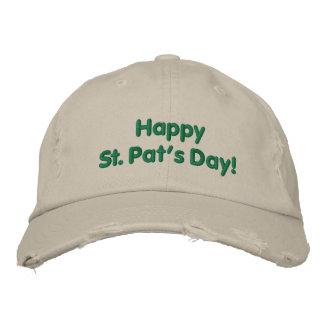 Chapéu bordado do dia da pancadinha feliz do St. Boné Bordado