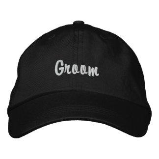 "Chapéu bordado do ""noivo"" boné bordado"