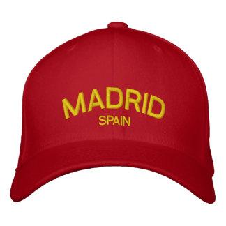 Chapéu bordado espanha de Madrid Boné Bordado