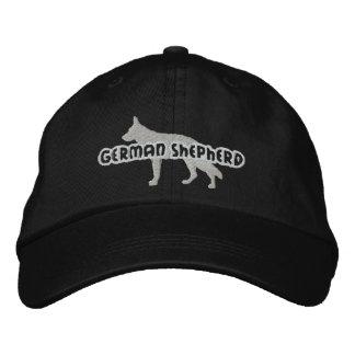 Chapéu bordado german shepherd da silhueta boné