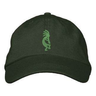 Chapéu bordado Kokopelli verde Boné Bordado