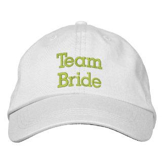 Chapéu bordado noiva da equipe boné bordado