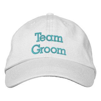 Chapéu bordado noivo da equipe boné bordado