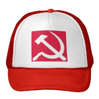 Chapéu branco do camionista do martelo e da foice boné